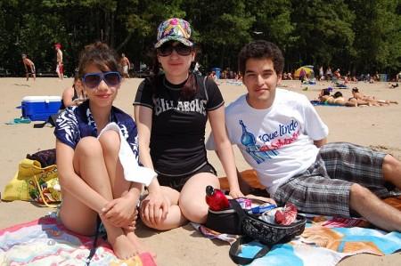 Sortie à la plage, juin 2011